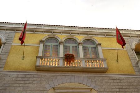Ancient window in European stlye photo