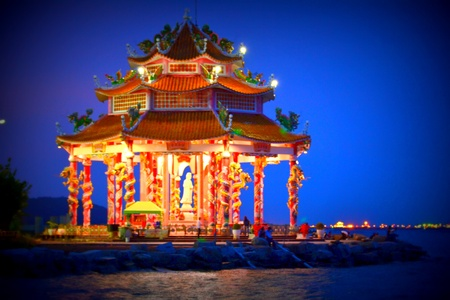 Guan Yin Shrine at Koh Loi,Sriracha,Chonburi Province,Thailand,Asia