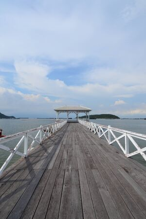Beautiful wooden pier at Ko Si Chang (Si Chang  Island),Sriracha,Chonburi Province,Thailand,Asia Stock Photo - 15361494