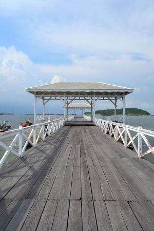 Beautiful wooden pier at Ko Si Chang  Si Chang  Island ,Sriracha,Chonburi Province,Thailand,Asia photo