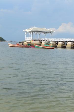 Beautiful wooden pier at Ko Si Chang (Si Chang  Island),Sriracha,Chonburi Province,Thailand,Asia