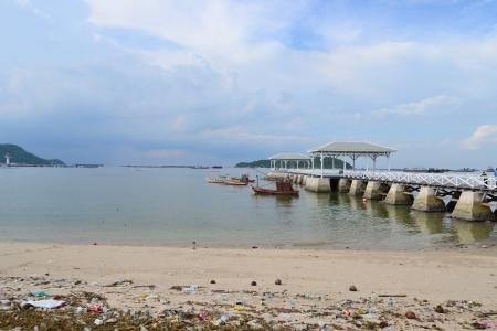 Beautiful wooden pier at Ko Si Chang (Si Chang  Island),Sriracha,Chonburi Province,Thailand,Asia Stock Photo - 15666043