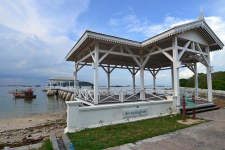 Beautiful wooden pier at Ko Si Chang (Si Chang  Island),Sriracha,Chonburi Province,Thailand,Asia Stock Photo - 15666315