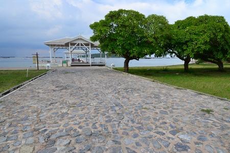 Beautiful wooden pier at Ko Si Chang (Si Chang  Island),Sriracha,Chonburi Province,Thailand,Asia Stock Photo - 15666419