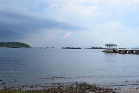 Beautiful wooden pier at Ko Si Chang (Si Chang  Island),Sriracha,Chonburi Province,Thailand,Asia photo