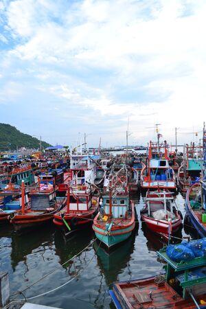 prow: Small fishing boat at Koh Si Chang(Si Chang  Island), Sriracha,Chonburi Province,Thailand,Asia