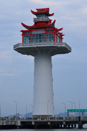 Chinese tower under construction at Si Chang Island,Chonburi Province,Thailand,Asia Stock Photo