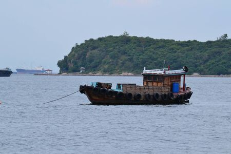 Small fishing boat at Koh Si Chang(Si Chang  Island), Sriracha,Chonburi Province,Thailand,Asia photo