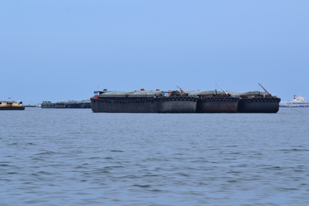 Cargo ship at Si Chang Island,Chonburi Province,Thailand,Asia