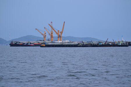 Cargo ship at Si Chang Island,Chonburi Province,Thailand,Asia