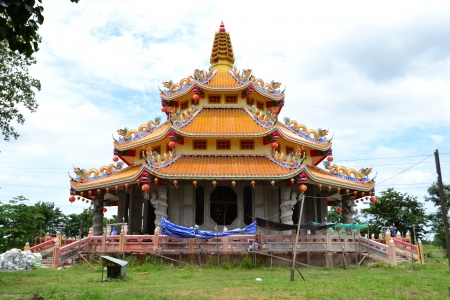 Chinese  temple under construction at Angthong Province,Thailand,Asia