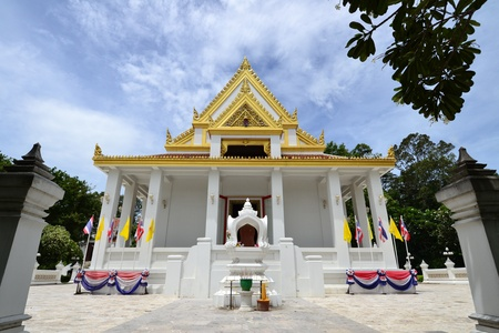 Thai temple and blue sky,Angthong Province,Thailand,Asia Stock Photo
