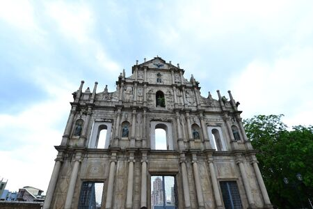 Facade of Saint Paul, Ruins of Saint Paul cathedral , Macau photo