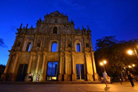 Facade of Saint Paul, Ruins of Saint Paul cathedral , Macau Stock Photo - 15404329