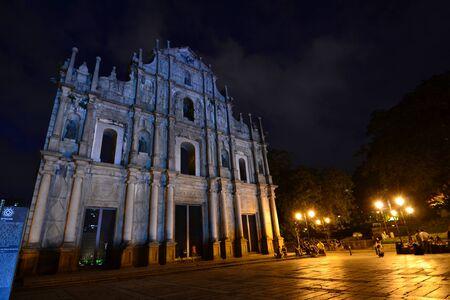 Facade of Saint Paul, Ruins of Saint Paul cathedral , Macau Stock Photo - 15404332