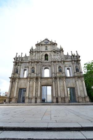 Facade of Saint Paul, Ruins of Saint Paul cathedral , Macau Stock Photo - 15404347