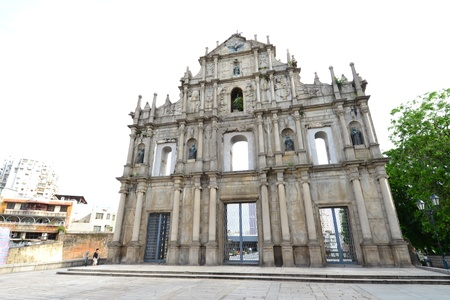 historical landmark: Facade of Saint Paul, Ruins of Saint Paul cathedral , Macau