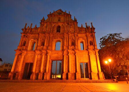 Facade of Saint Paul, Ruins of Saint Paul cathedral , Macau Stock Photo - 15404257