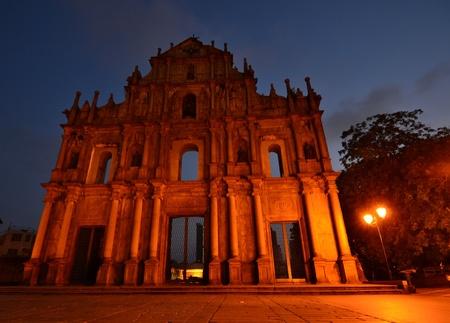 Facade of Saint Paul, Ruins of Saint Paul cathedral , Macau Stock Photo - 15404256