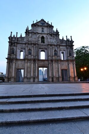 Facade of Saint Paul, Ruins of Saint Paul cathedral , Macau Stock Photo - 15404713