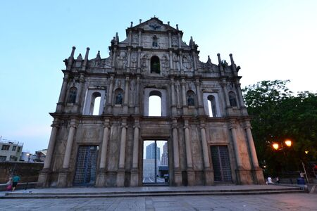Facade of Saint Paul, Ruins of Saint Paul cathedral , Macau Stock Photo - 15458890