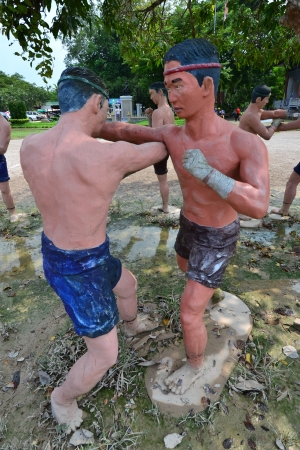 Statue of Thai boxing (Muay Thai),Thailand,Asia.