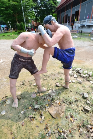 Estatua de boxeo tailand�s (Muay Thai), Tailandia, Asia. photo
