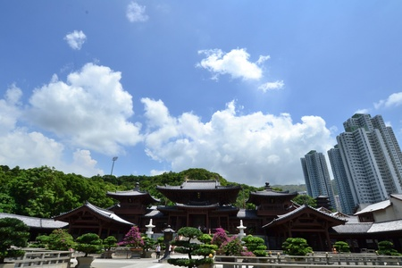 Chi Lin Nunnery is a large Buddhist temple complex located in Diamond Hill , Kowloon,Hong Kong. Stock Photo - 15992765
