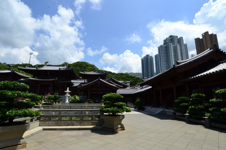 Chi Lin Nunnery is a large Buddhist temple complex located in Diamond Hill , Kowloon,Hong Kong. Stock Photo - 16002553