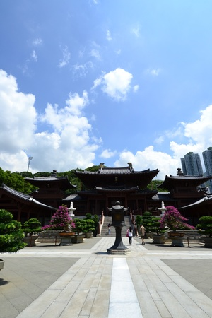 Chi Lin Nunnery is a large Buddhist temple complex located in Diamond Hill , Kowloon,Hong Kong. Stock Photo - 16002434