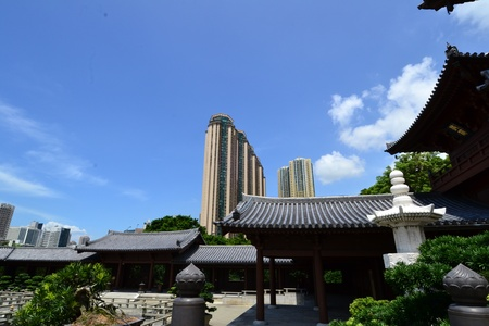 Chi Lin Nunnery is a large Buddhist temple complex located in Diamond Hill , Kowloon,Hong Kong. Stock Photo - 16002555