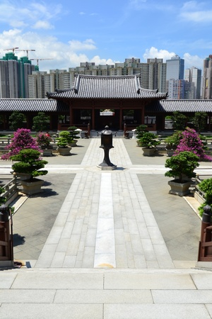Chi Lin Nunnery is a large Buddhist temple complex located in Diamond Hill , Kowloon,Hong Kong. Stock Photo - 16064236
