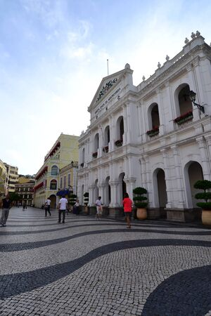 Largo do Senado, Senado Square, Macau ,China Stock Photo - 16652371