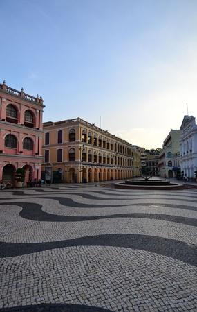 Largo do Senado, Senado Square, Macau ,China photo