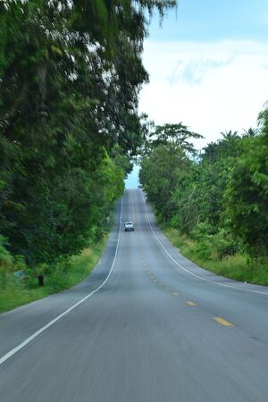 southern thailand: Highway traffic in Krabi Province, Southern of Thailand. Stock Photo