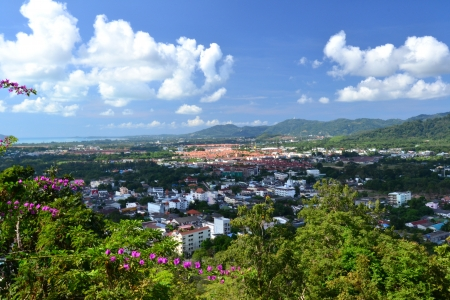 Bird eye view of Phuket viewpoint, South of Thailand ,Asia photo