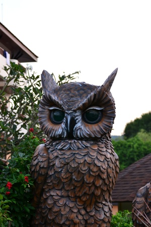 Statue of an Owl,Krabi Province, Southern of Thailand. photo