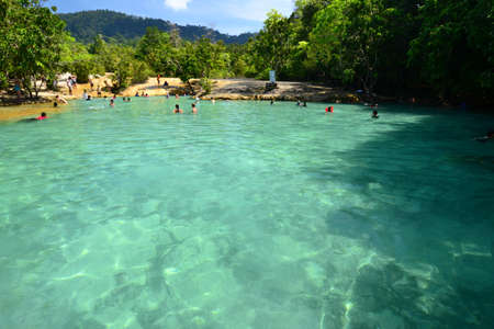 Emerald Pool, Clear Water in Swamp forest , Krabi Province, Southern of Thailand Stock Photo - 16782498