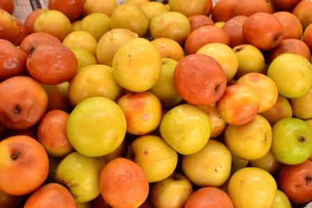jujube fruits: Jujube fruit (Ziziphus jujuba) background, Thai fruit in Thailand.