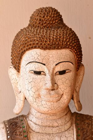 Skin rupture Buddha statue in the ancient thai capital of ayutthaya,Thailand.Asia. Stock Photo - 18223793