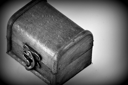 Treasure chest  on the white background. photo