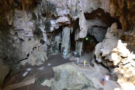 catacomb: Cave stalactites  in Khaoluang, Phetchaburi Province, Thailand.