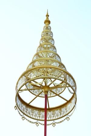 Golden Tiered umbrella in isolation ,Thailand