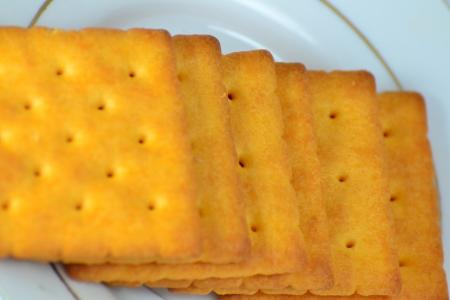 Close up crackers isolated on white background. Stock Photo - 18647802