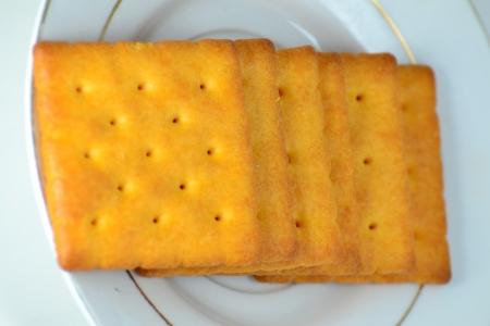Close up crackers isolated on white background. Stock Photo - 18647720