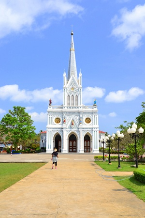 Gothic style church in Samut Songkhram Province,Thailand,Asia. photo