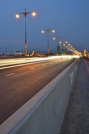 Light of cars on the road,Bangkok,Thailand. Stock Photo - 20627474