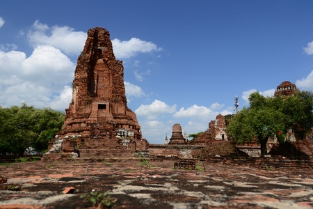 Ancient Pagoda at ayutthaya Province, Thailand.