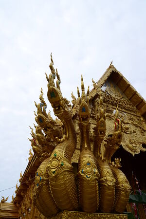 �Naga in Thai Temple,Thailand,Asia. Stock Photo
