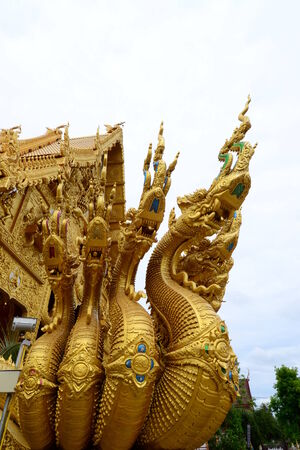 �Naga in Thai Temple,Thailand,Asia. photo